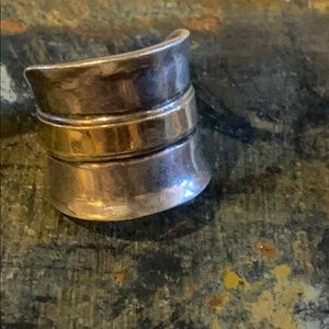 Gorgeous Sterling  Silver & Brass Silpada Ring